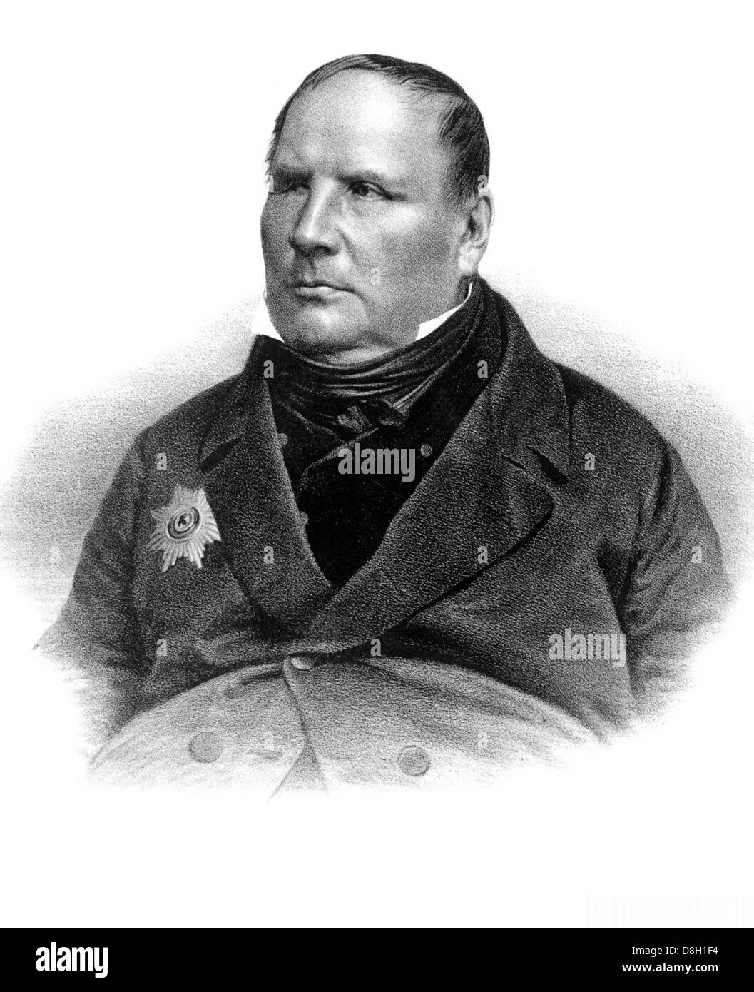 MIKHAIL OSTROGRADSKY (1801-1862) Russian mathematician and physicist - Stock Image