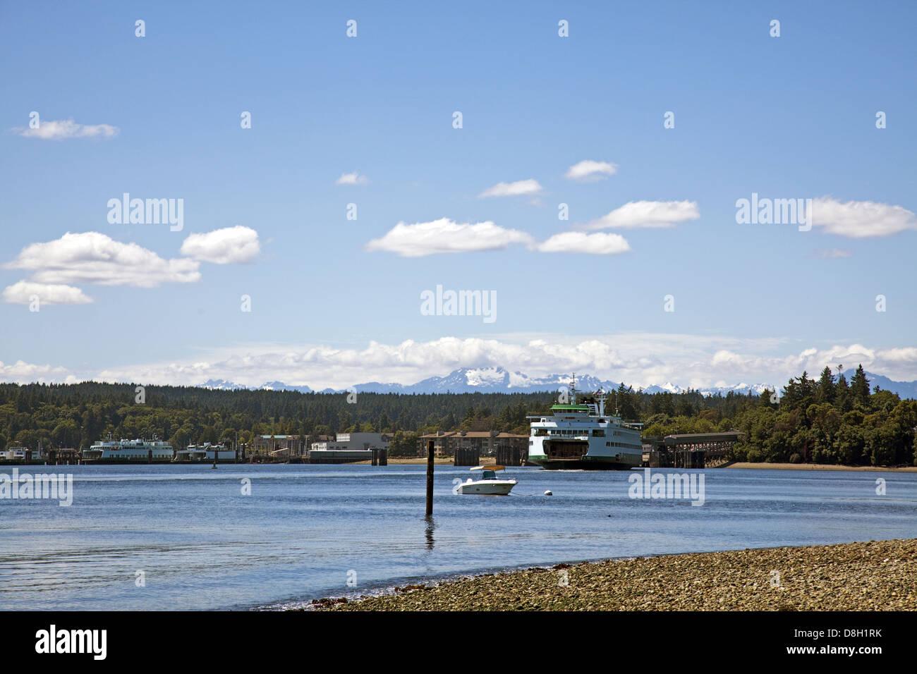 Bainbridge Island & Washington State Ferry - Stock Image
