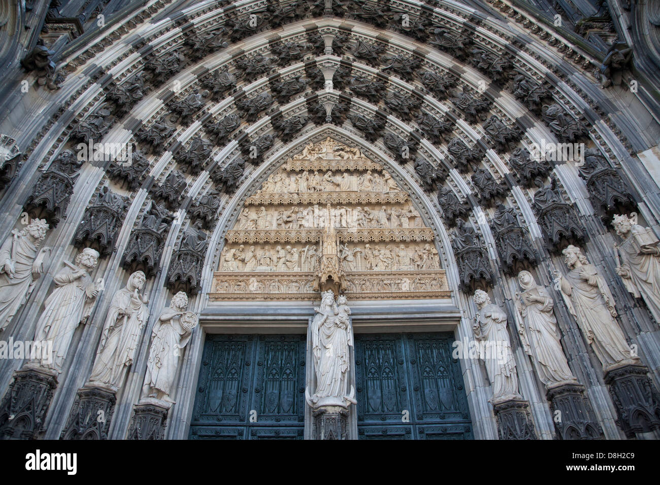 Main Portal , Cologne Cathedral, Germany - Stock Image