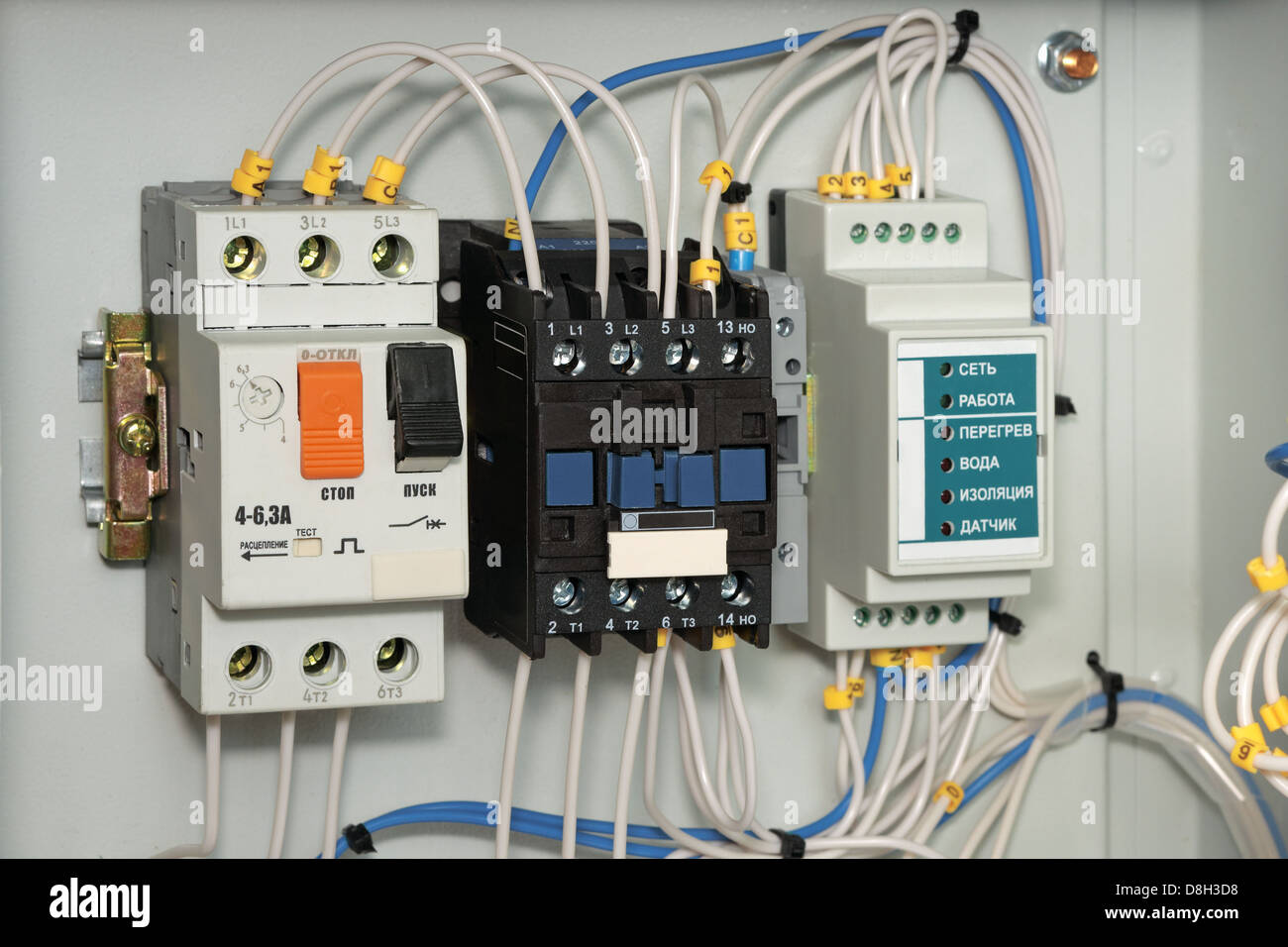 Electrical panel control power electric circuit for How does a single phase motor work