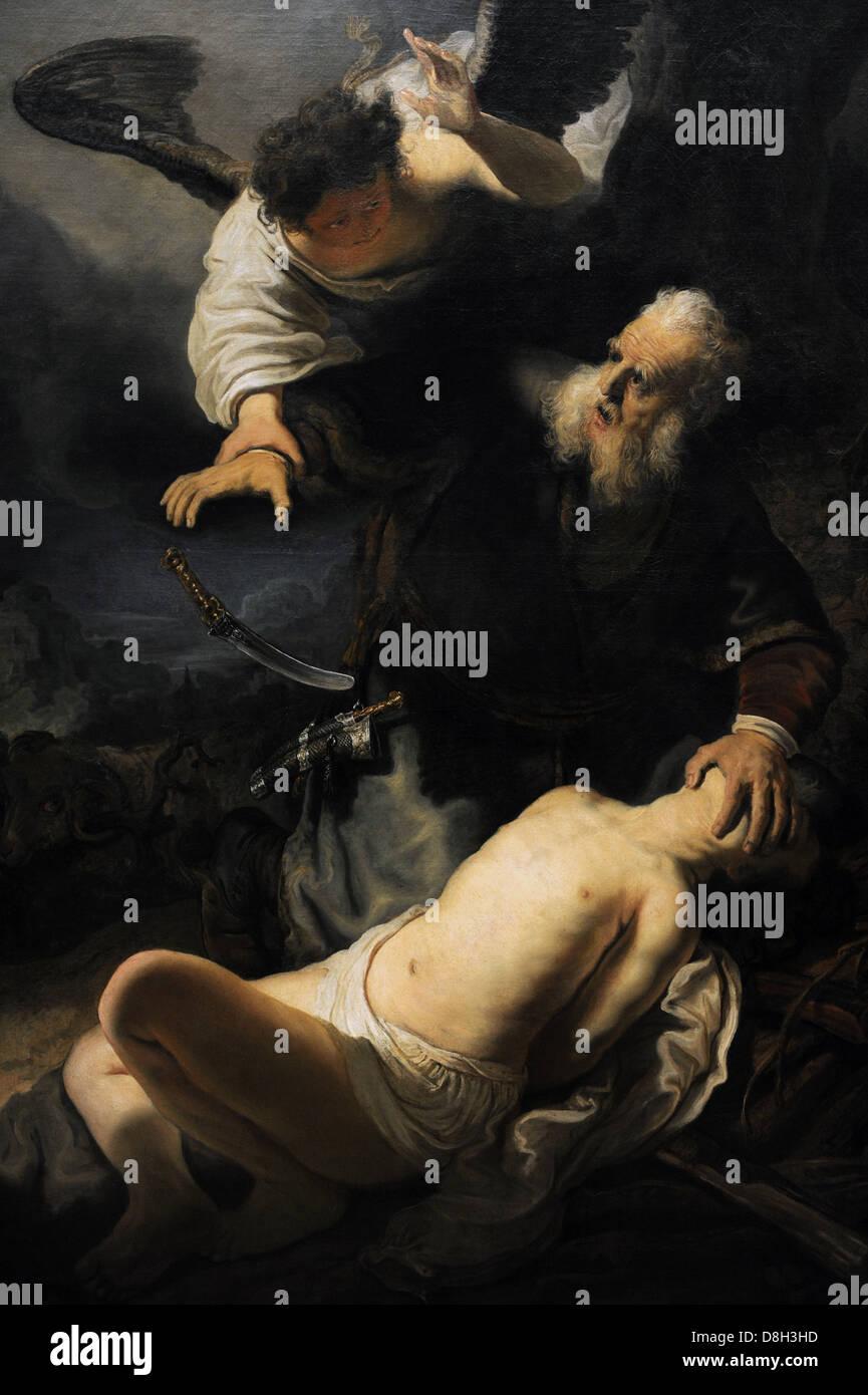 Rembrandt Harmenszoon van Rijn (1606-1669) Dutch painter and etcher.The Sacrifice of Isaac, 1636. - Stock Image