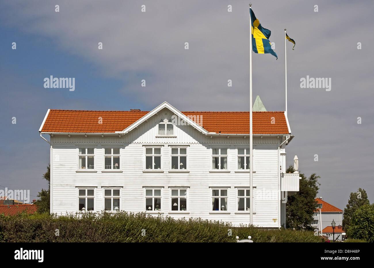 Swedish villa - Stock Image