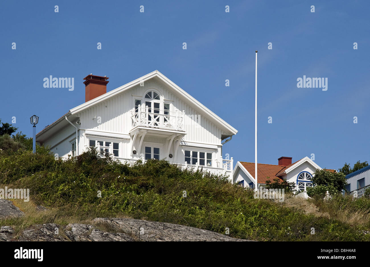 Holiday Home, Sweden - Stock Image