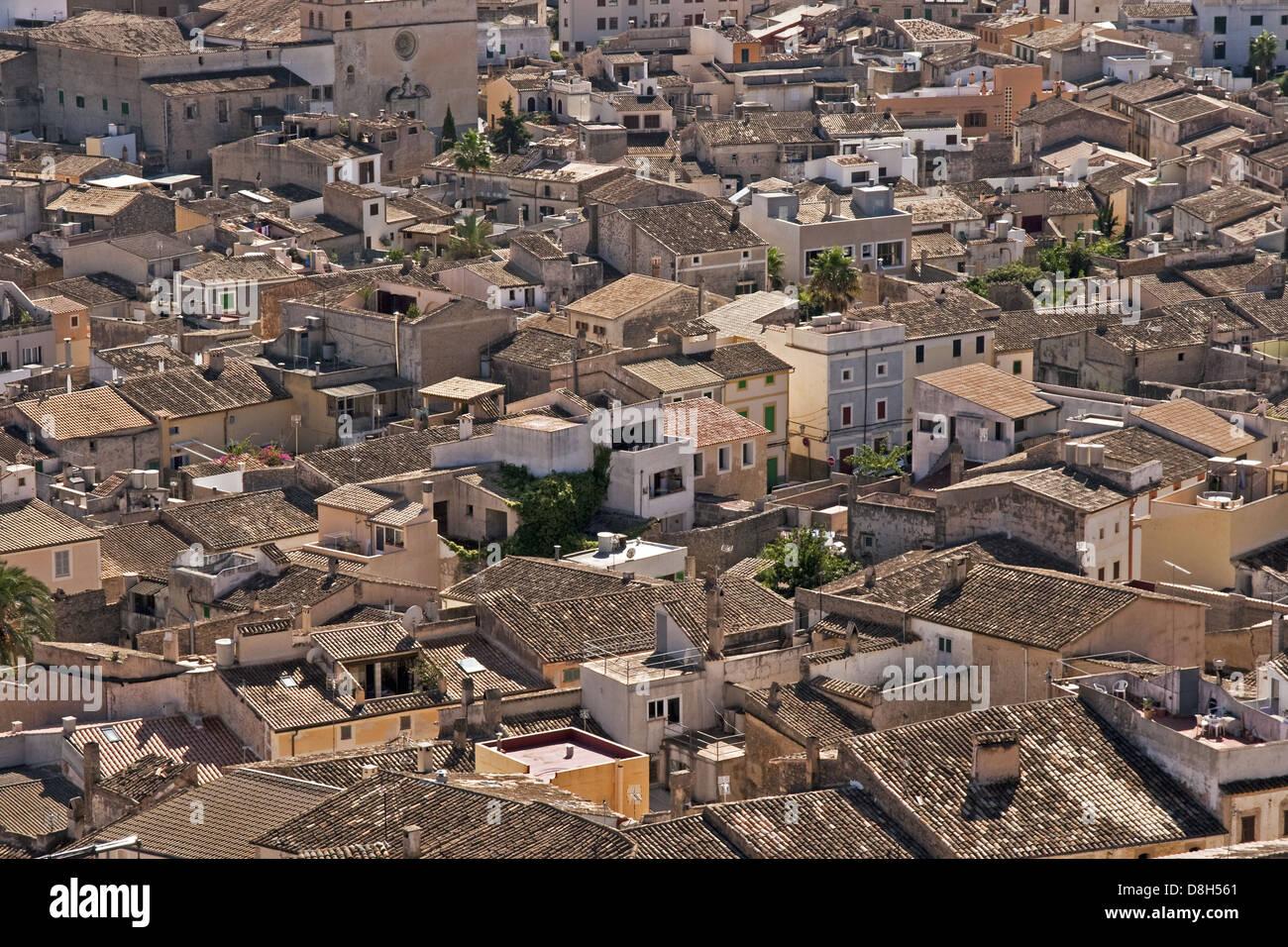 Majorcan village Stock Photo