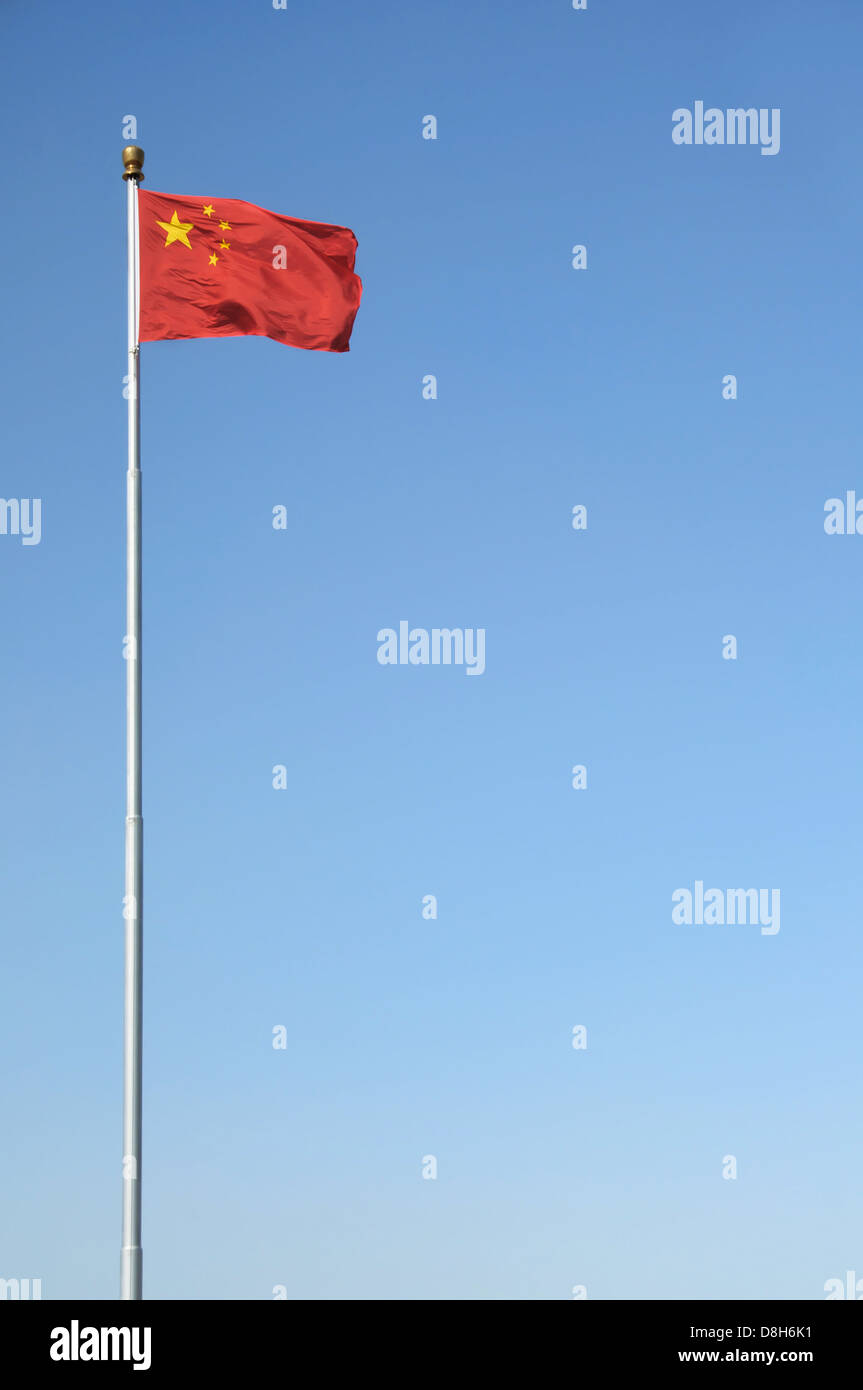 Chinese flag in Tiananmen Square, Beijing - Stock Image