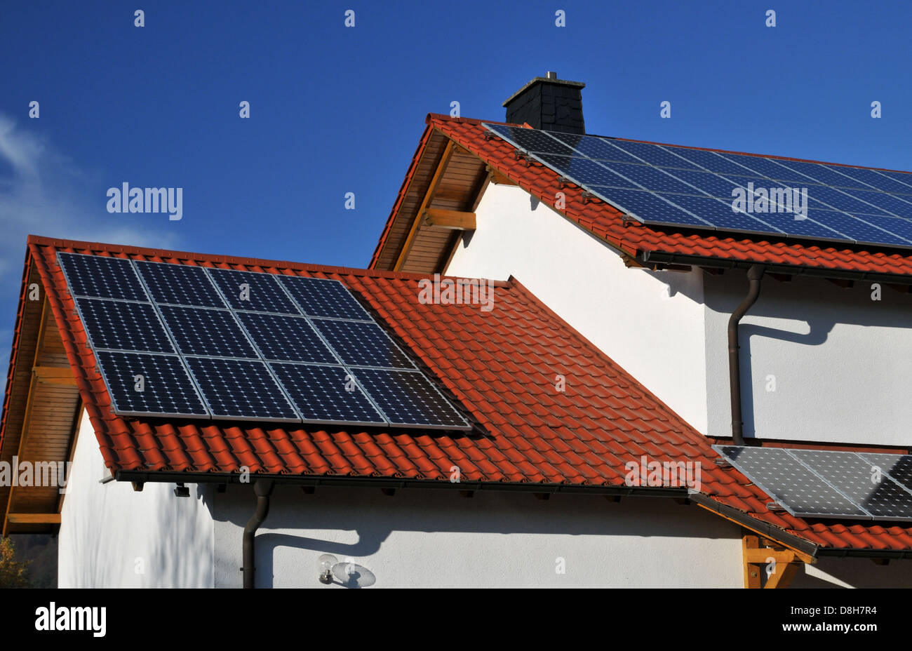 solar roof - Stock Image