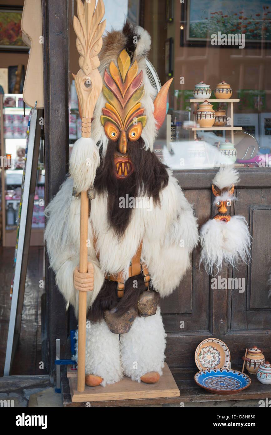Europe, Bulgaria, Veliko Tarnovo, Kukeri Festival doll Stock Photo