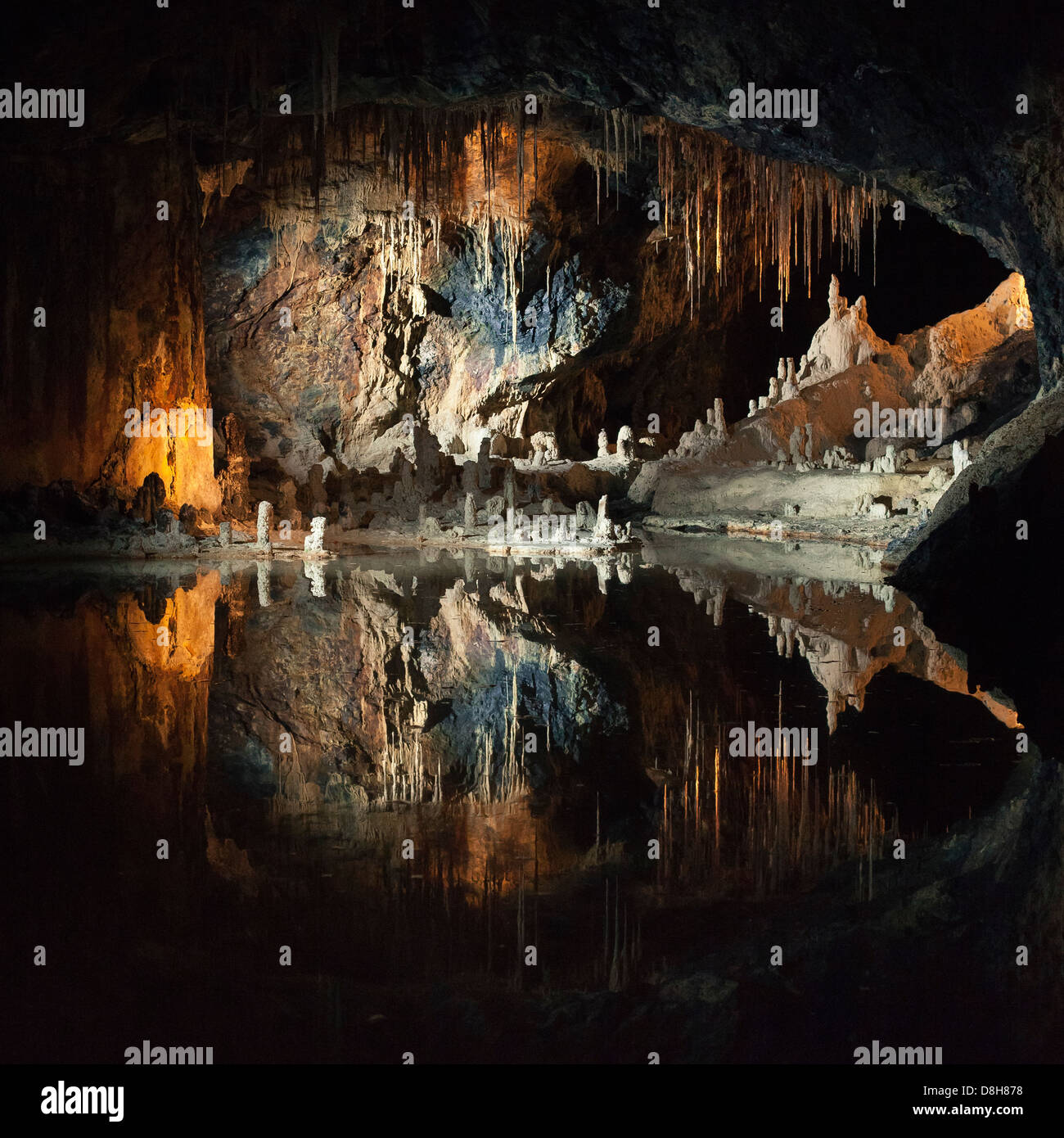 Saalfeld Fairy Grottoes. Saalfeld, Thuringia, Germany - Stock Image