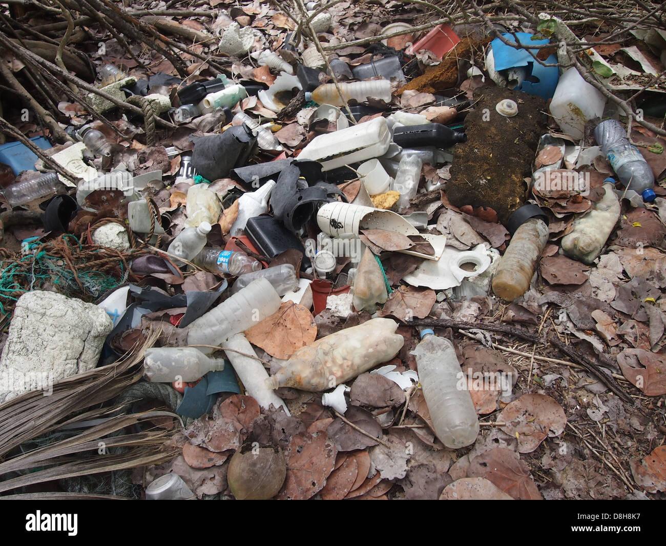 Litter from the ocean - Stock Image