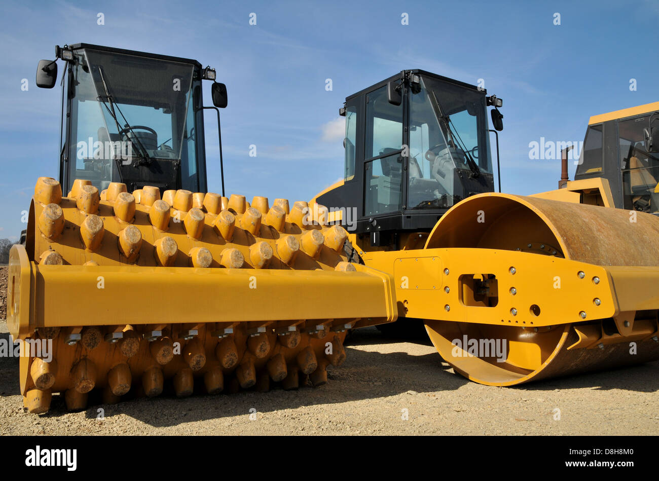 road-roller Stock Photo
