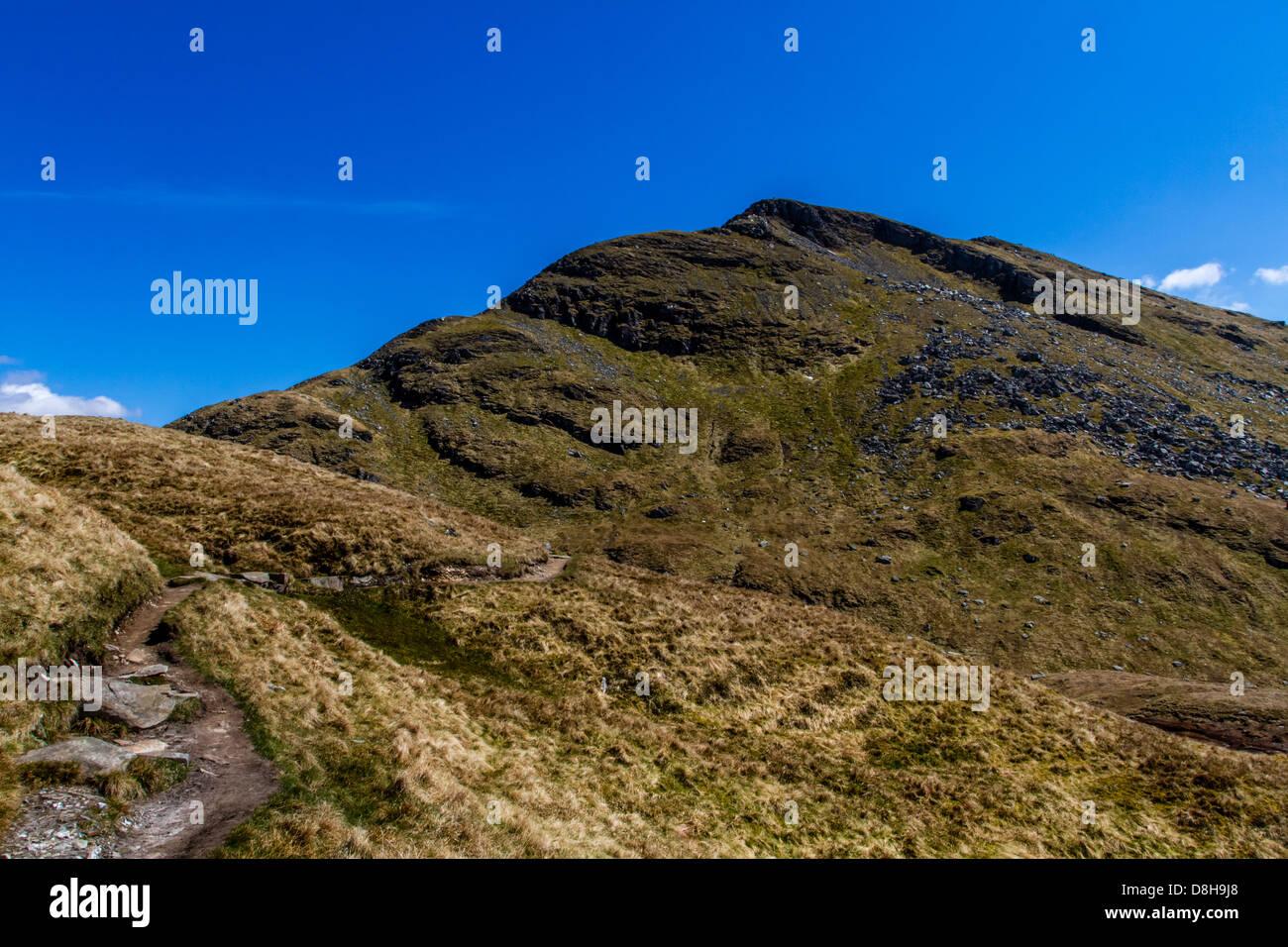Descending Ben Lomond over Ptarmigan - Stock Image