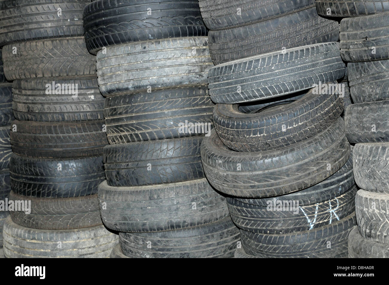 used tires Stock Photo