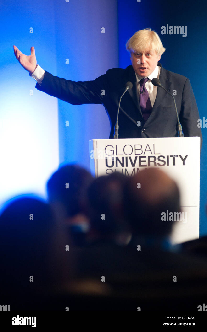 London, UK. 29th May 2013. Mayor of London, Boris Johnson speaks to business-leaders, senior representatives from - Stock Image