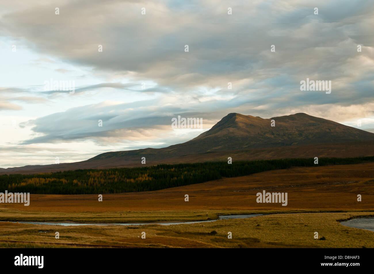 Autumn in the Scottish Highlands, Scardroy, Scotland, United Kingdom, Europe - Stock Image