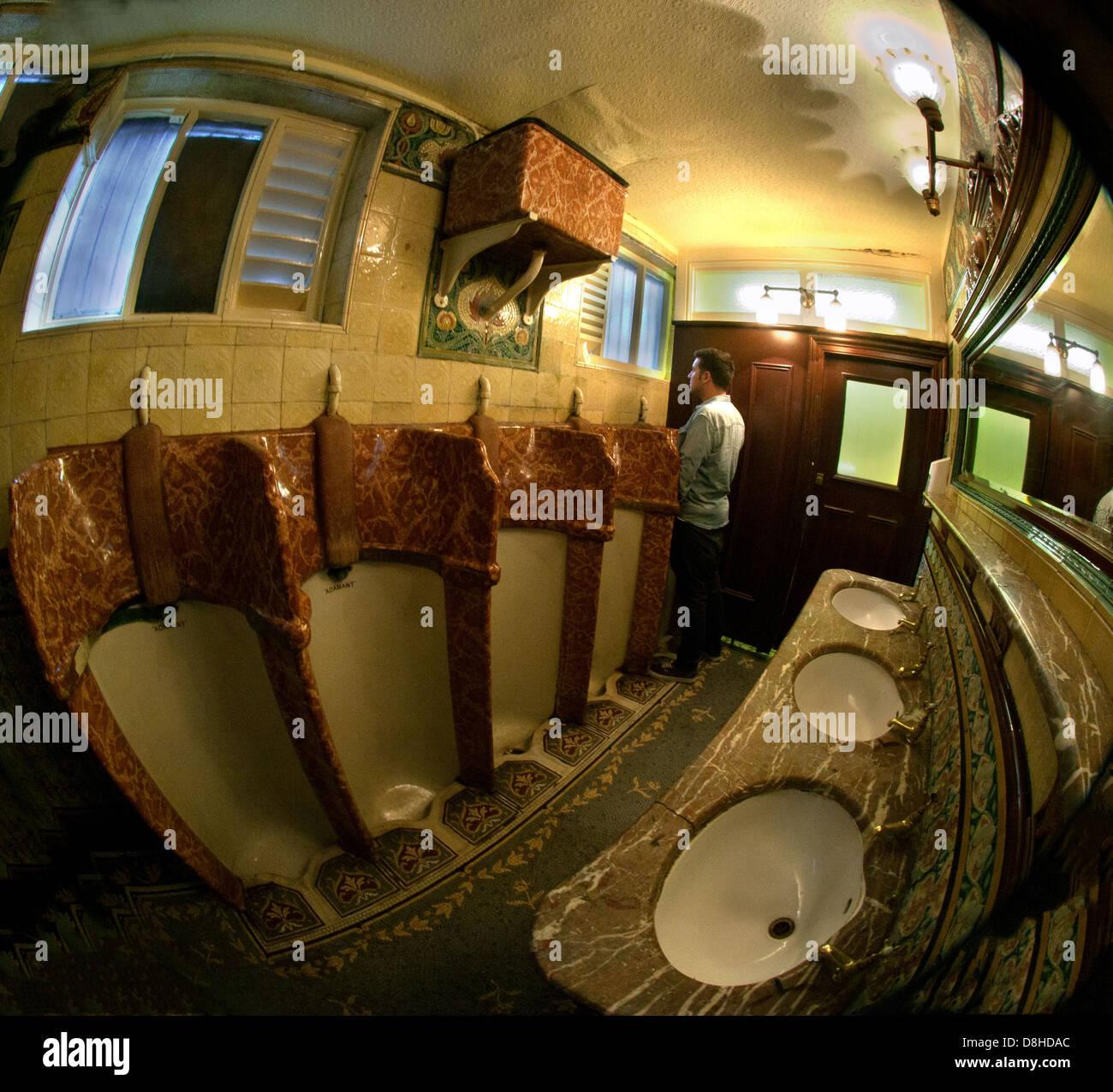 The famous Hope St Phillarmonic Pub Urinals, Liverpool England UK - Stock Image