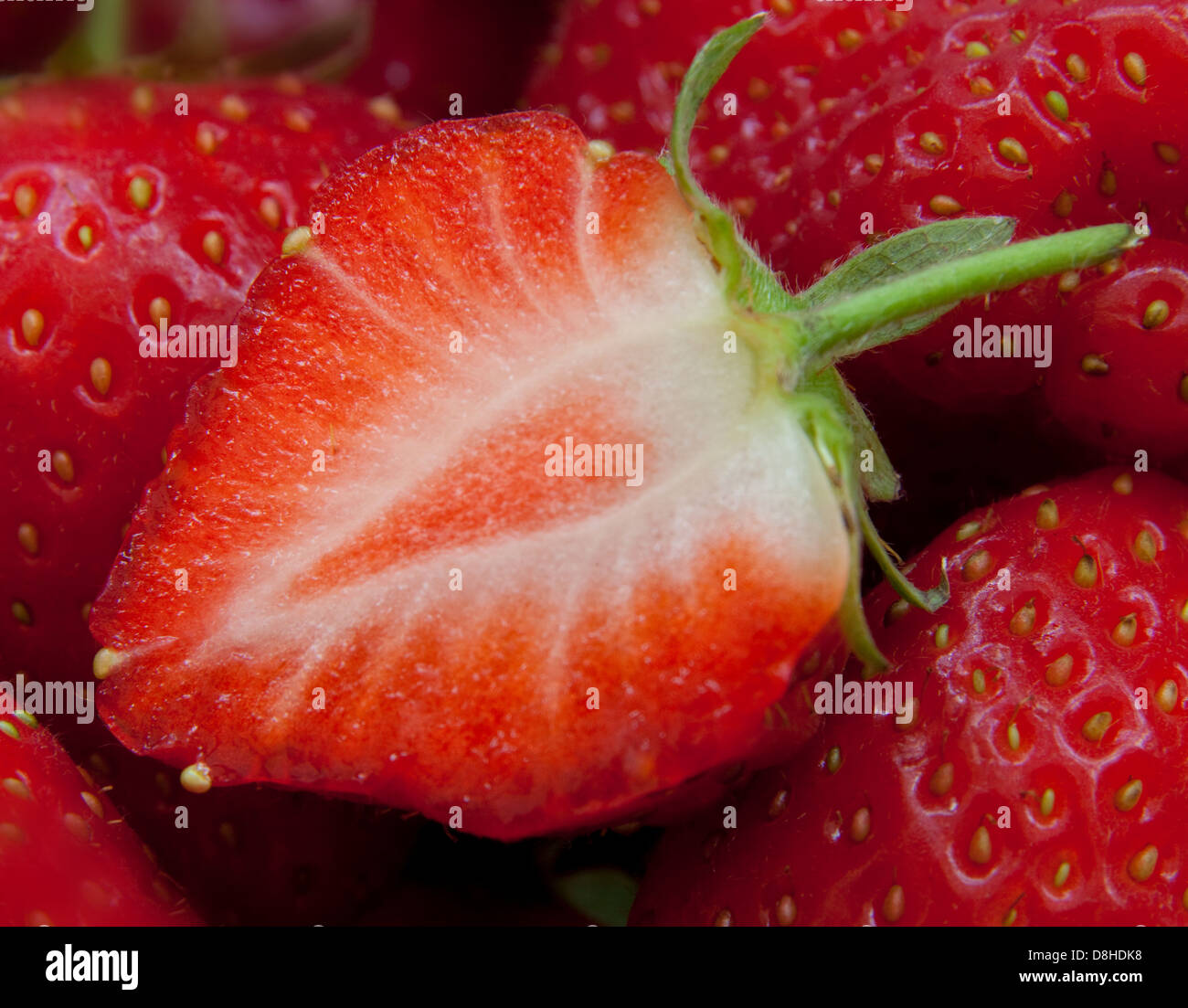 British Strawberries such a brilliant red summer fruit! - Stock Image