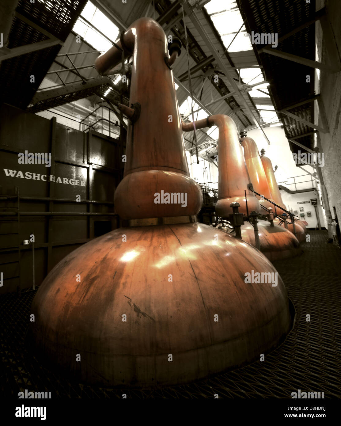 The Tobermory Whisky Distillery copper Still Stock Photo