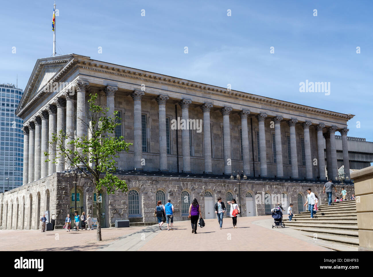 Birmingham Town Hall is a Grade I listed concert hall and venue for popular assemblies opened in 1834 - Stock Image