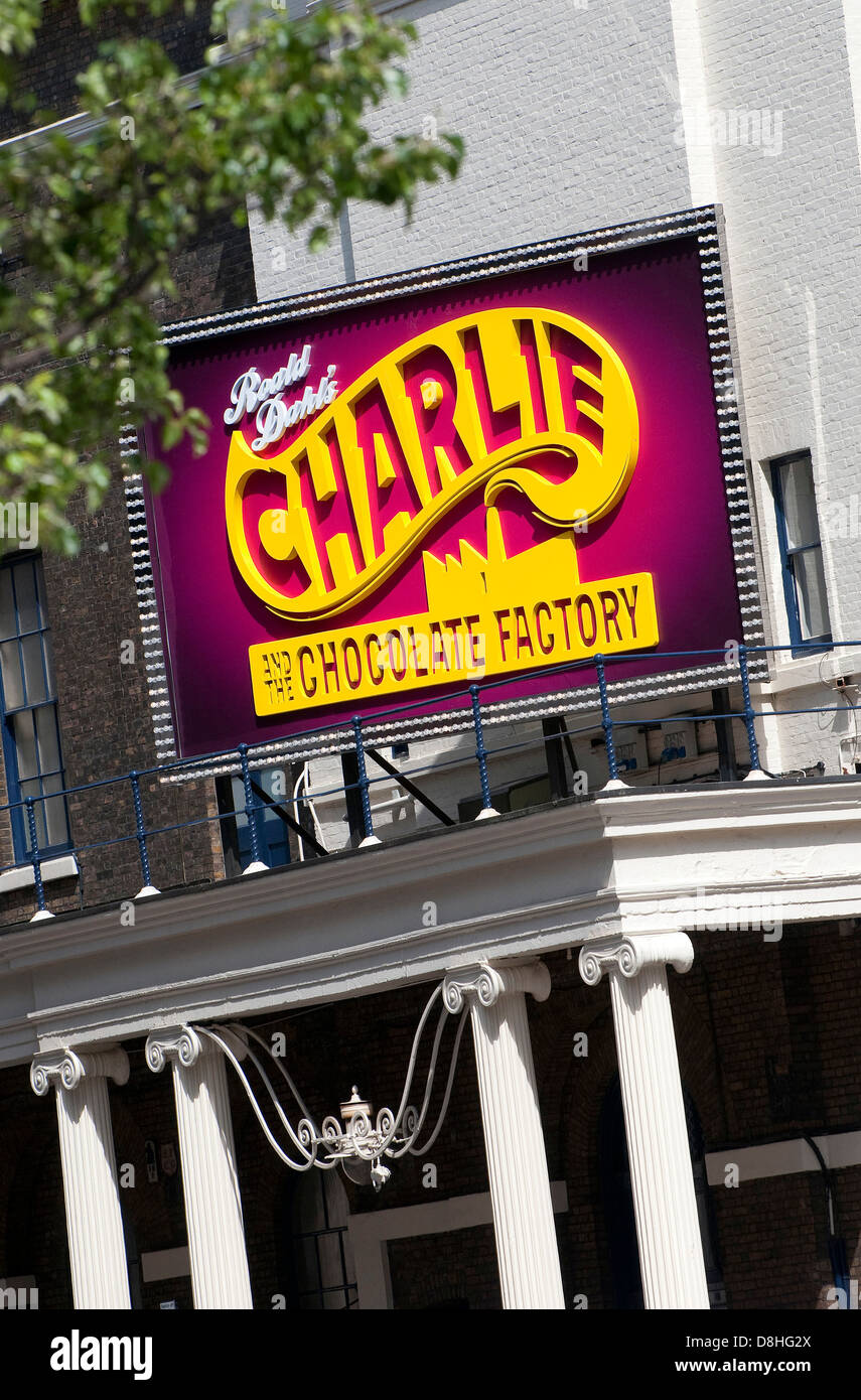 charlie and the chocolate factory, theatre royal, drury lane, london, england - Stock Image