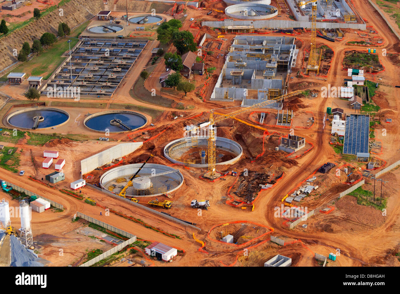 Aerial view of industrial development.Johannesburg.South Africa - Stock Image
