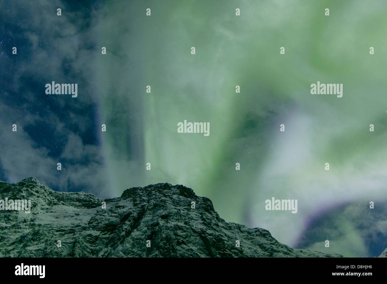 Aurora Borealis, Northern Lights, Troms region, Norway - Stock Image