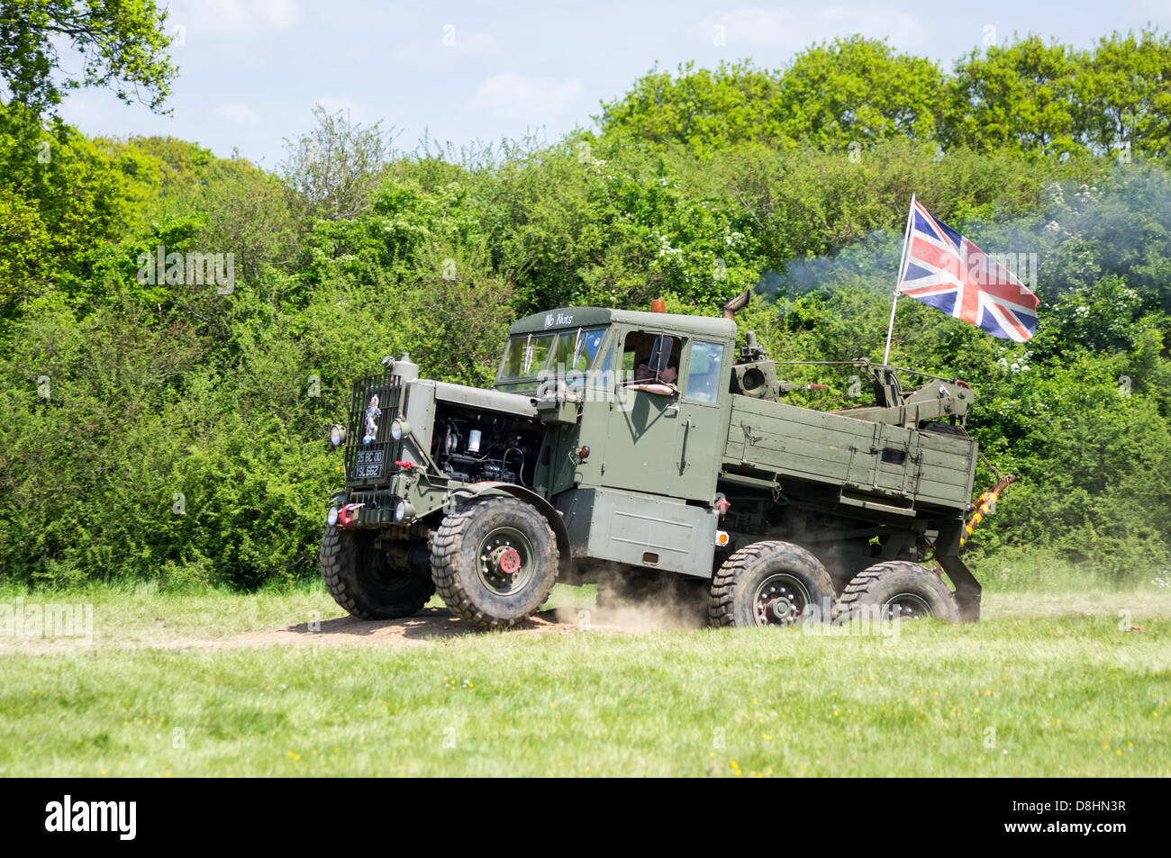 A Scammell Explorer British Army truck is put through it's paces at the 2013 Denmead Overlord, D-Day re-enactment - Stock Image