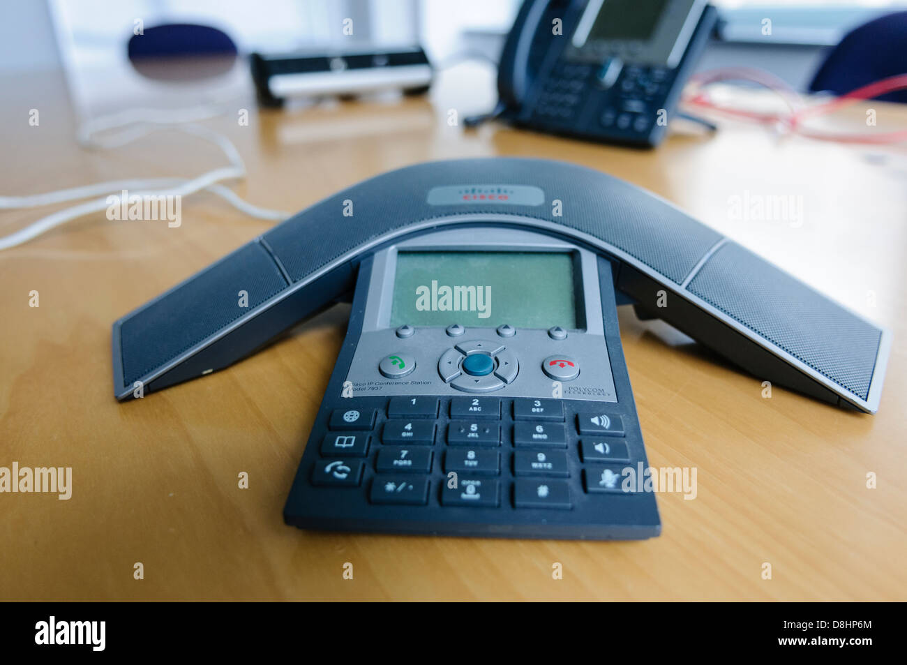 """A Cisco Polycom IP """"Spider"""" Conference Phone In A Modern"""