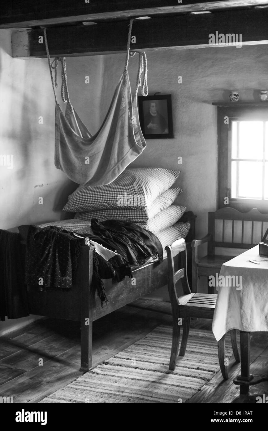 Original old room in the cottage - Stock Image
