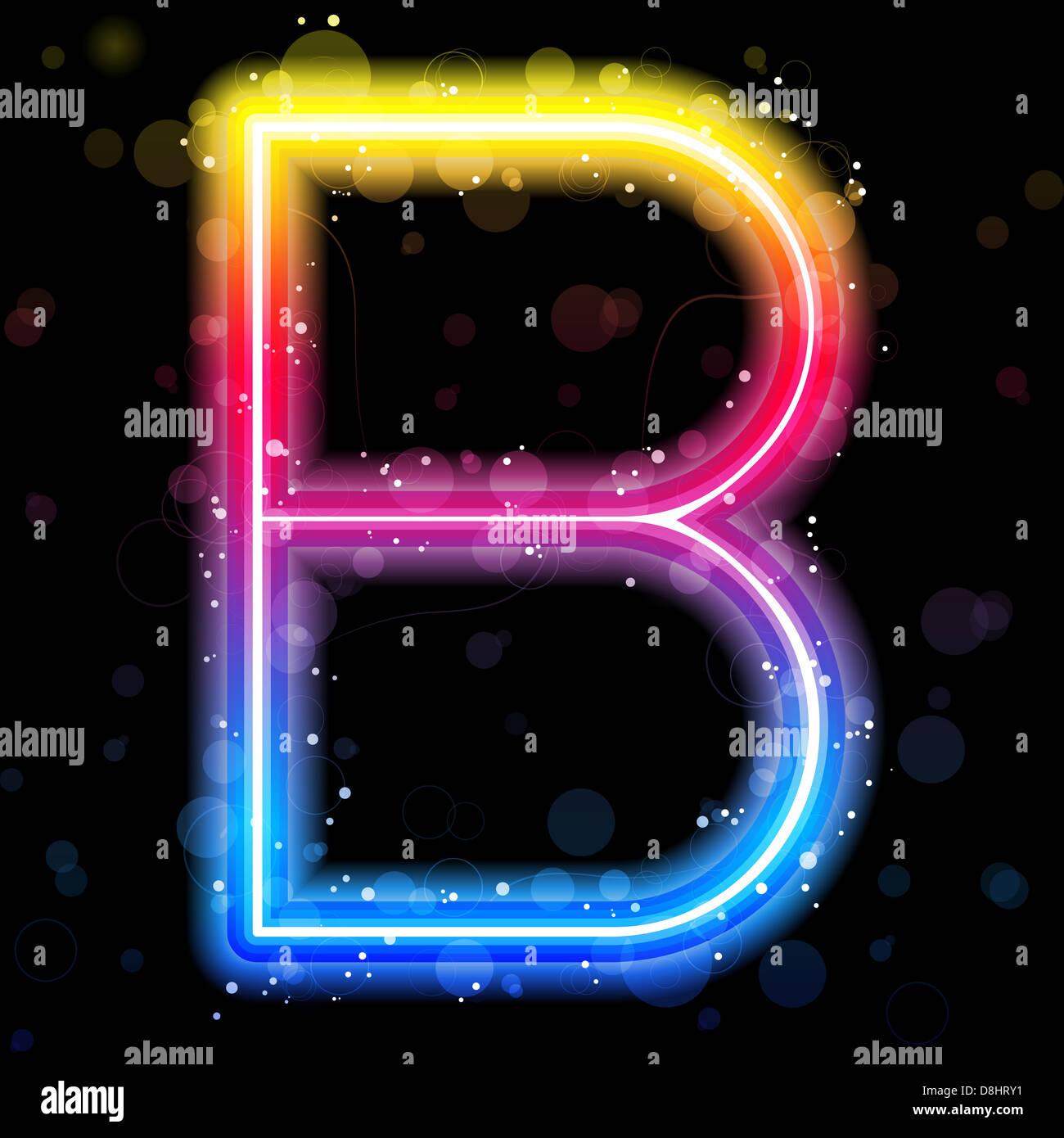 Letter B Illuminated Stock Photos