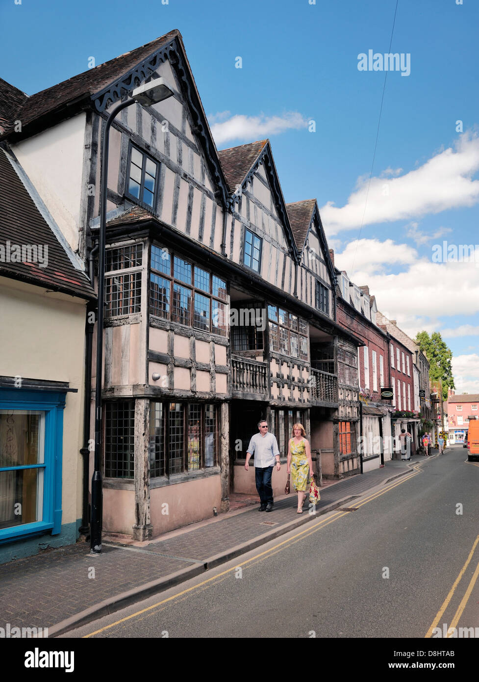 Raynald's Mansion formerly The White Hart and aka Reynolds Tenement. High Street, Much Wenlock, England. 15th C - Stock Image