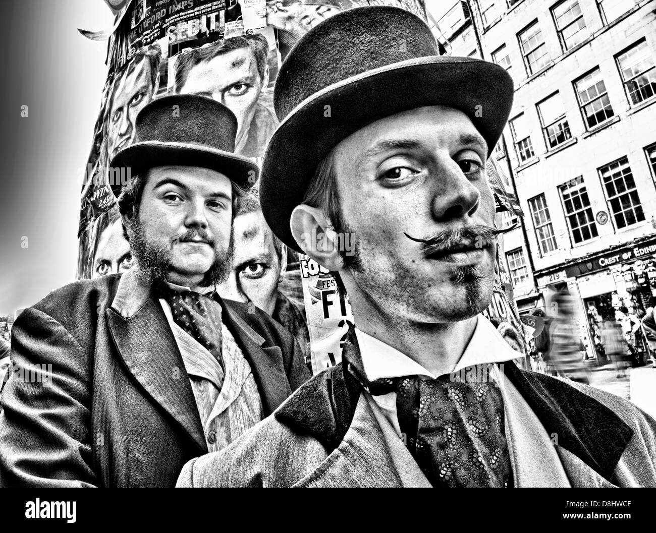 Morgan & West Victorian Magicians, Edinburgh Festival Fringe Act, Scotland, UK, EH1 1QS - Stock Image