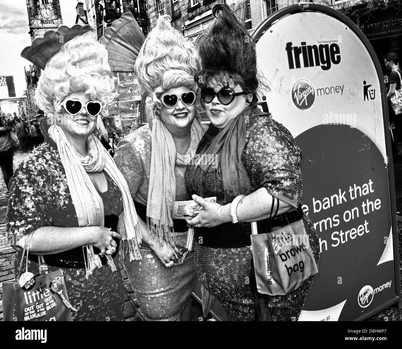The Sundaes, Knickerbocker Glory, Edinburgh Festival Fringe Act, Scotland, UK, EH1 1QS - Stock Image