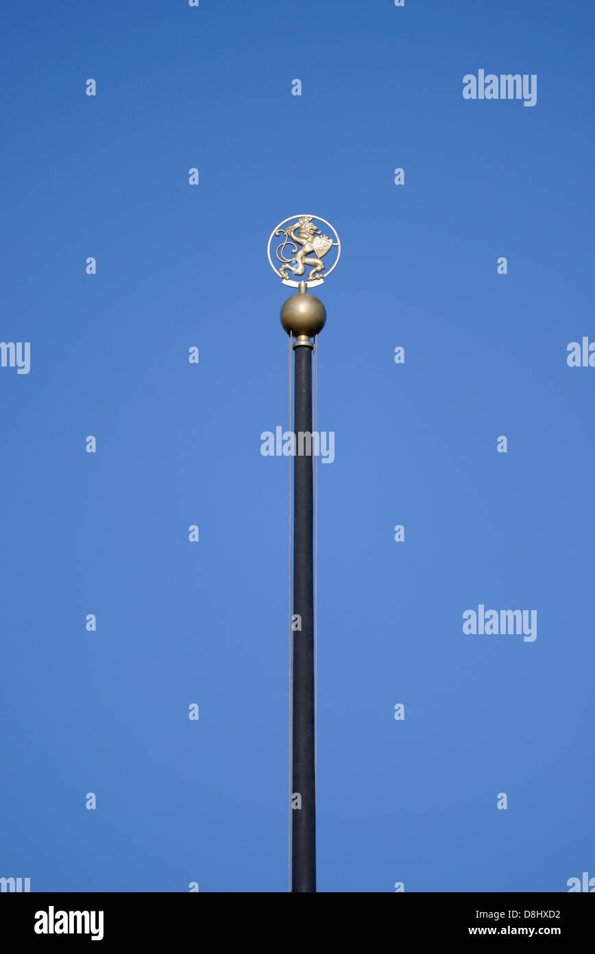 Flagpole in Gustav Adolf Square, Gothenburg, Sweden - Stock Image