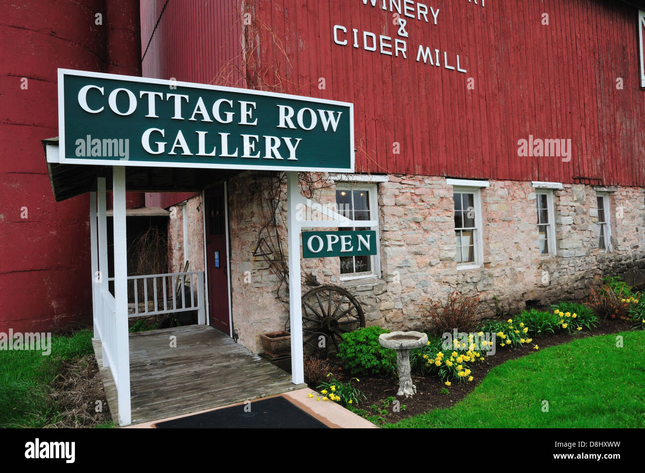 Orchard Country Winery And Cider Mill Door County Wisconsin Stock