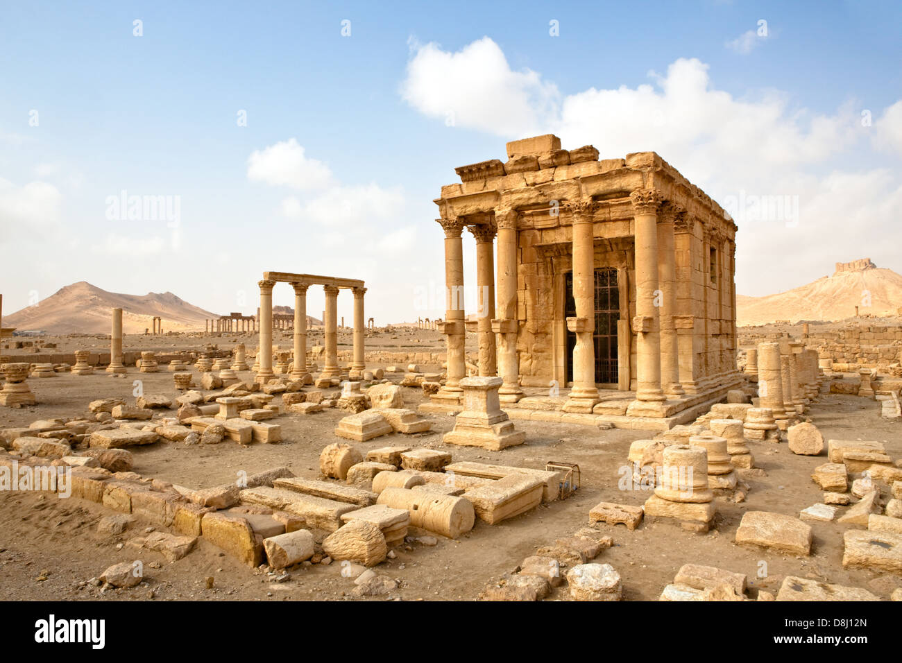 Ancient Roman time town in Palmyra (Tadmor), Syria. Greco-Roman & Persian Period. - Stock Image
