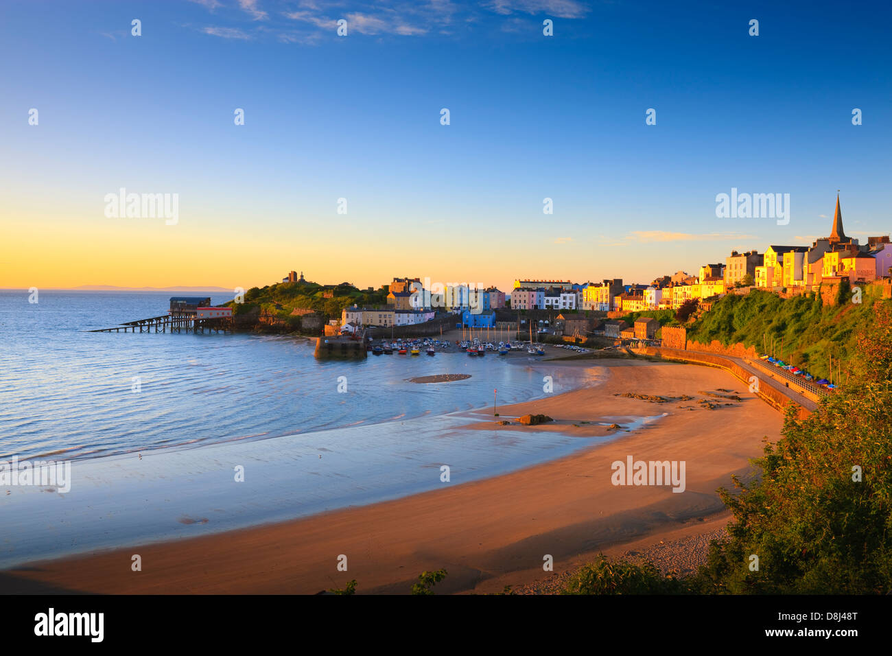 Tenby Harbour Tenby Pembrokeshire Wales - Stock Image