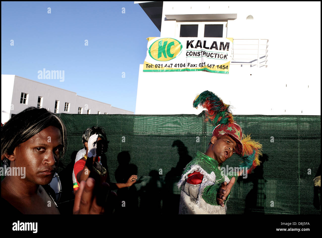 Minstrels march at District Six housing handover,Cape Town - Stock Image