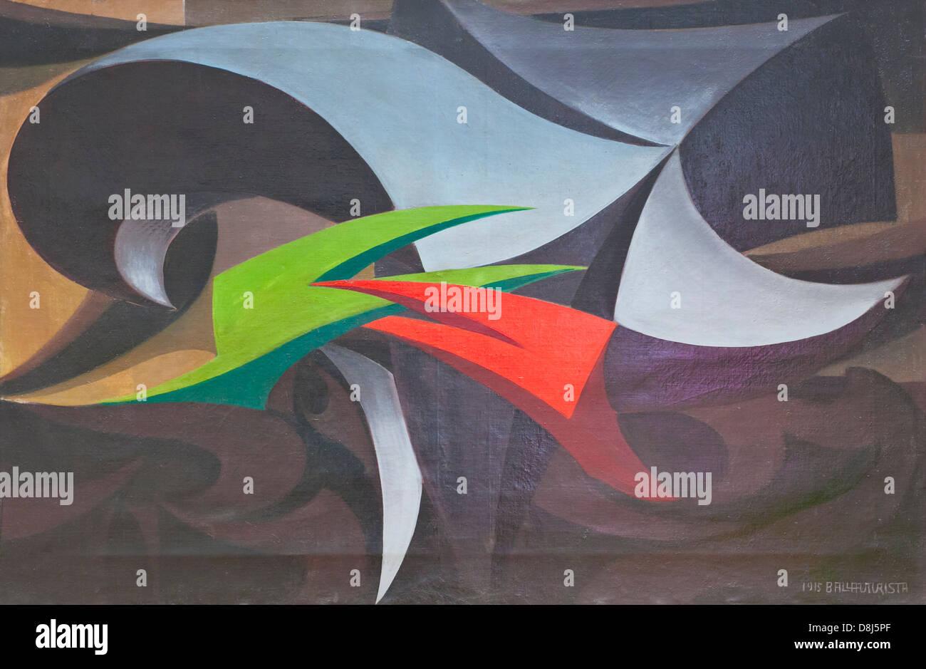 Insidie di guerra, Giacomo Balla - Stock Image