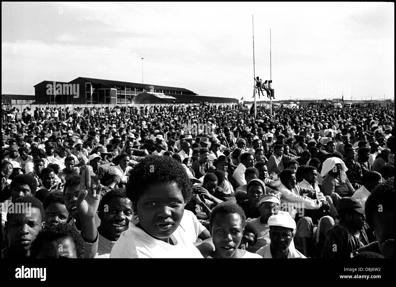 ANC election campaign rally,Khayelitsha,Cape Town,1994 - Stock Image