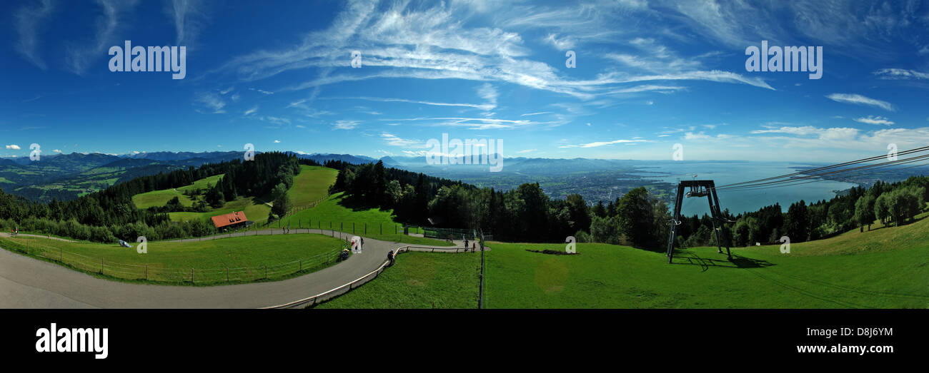 Panoramic view from Pfänder Stock Photo