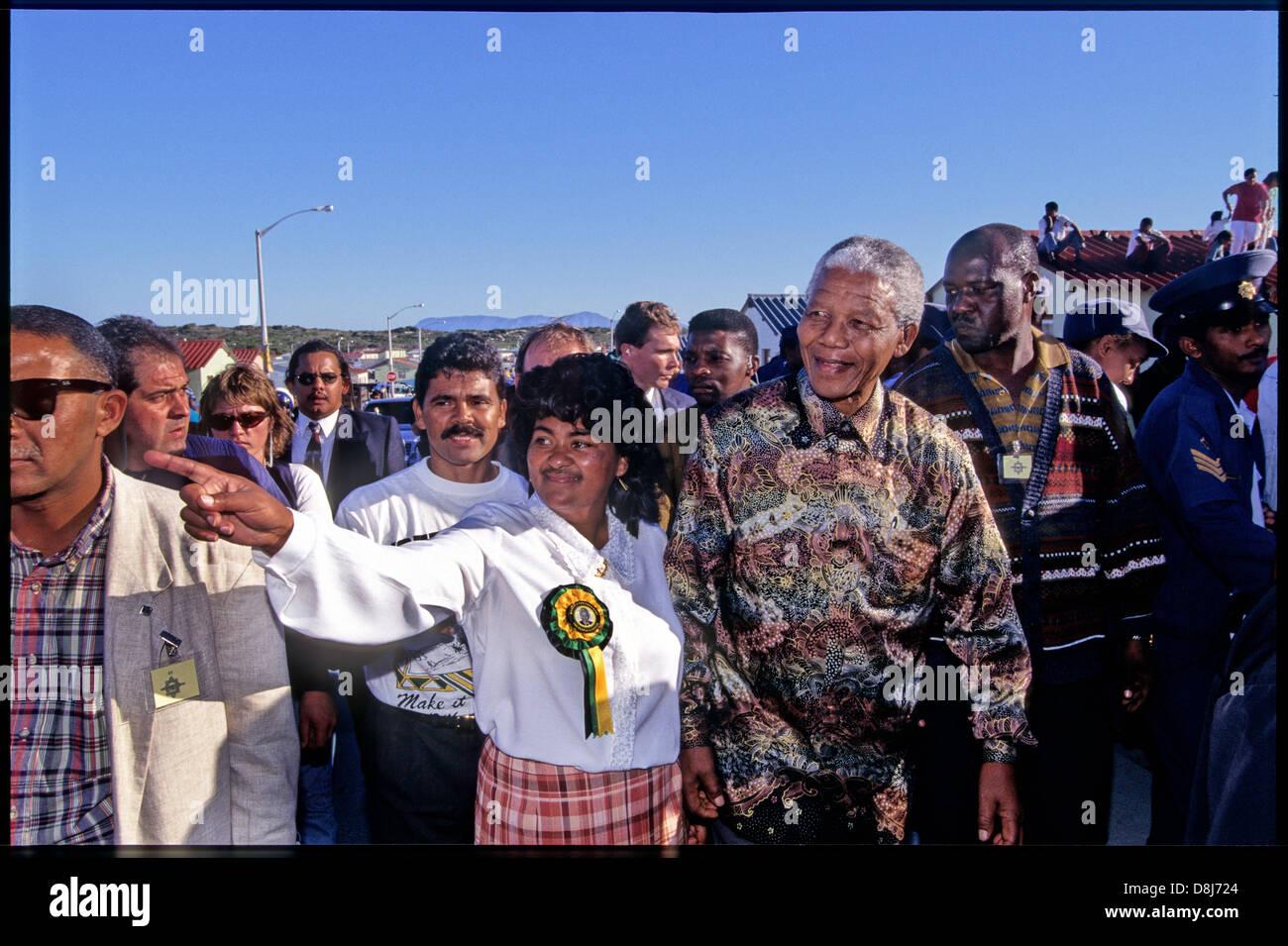Nelson Mandela 1994 Stock Photos & Nelson Mandela 1994 ...