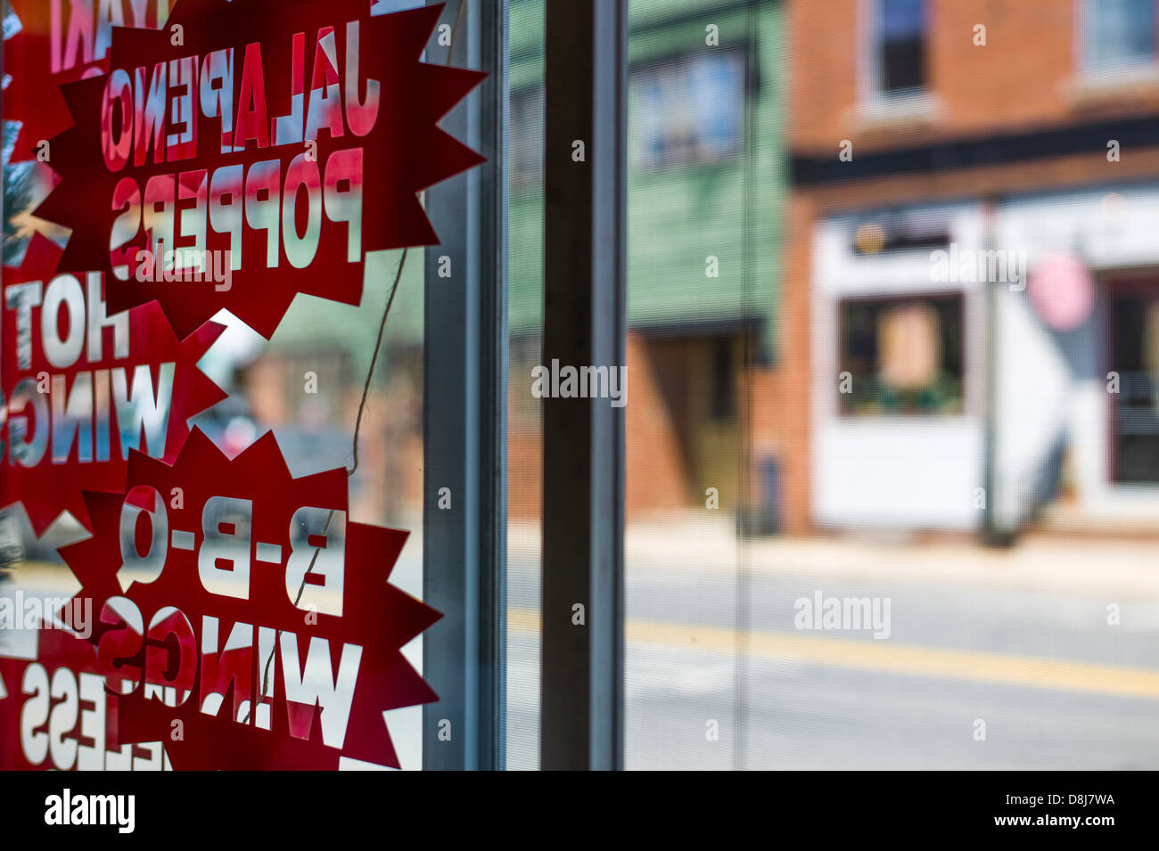 View From Inside A Fastfood Restaurant Wakefield Rhode Island Usa