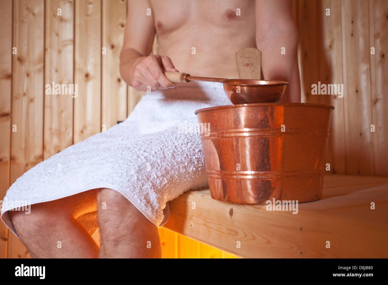Finnish sauna - Stock Image