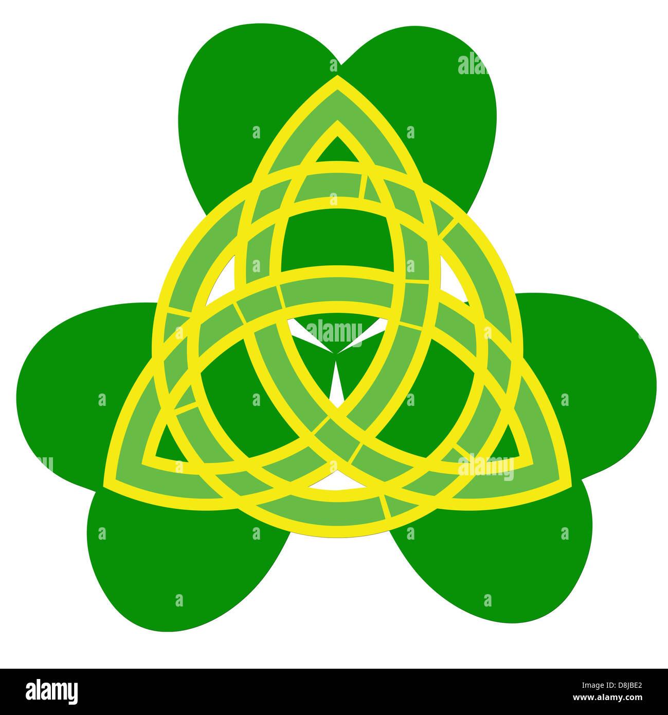 christian celtic trinity symbol - Stock Image