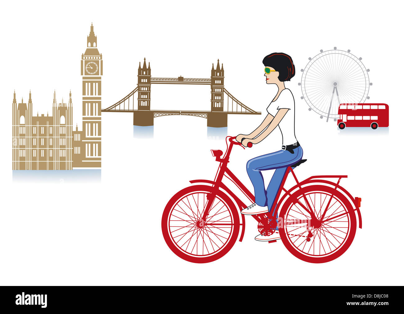 London on a bicycle - Stock Image