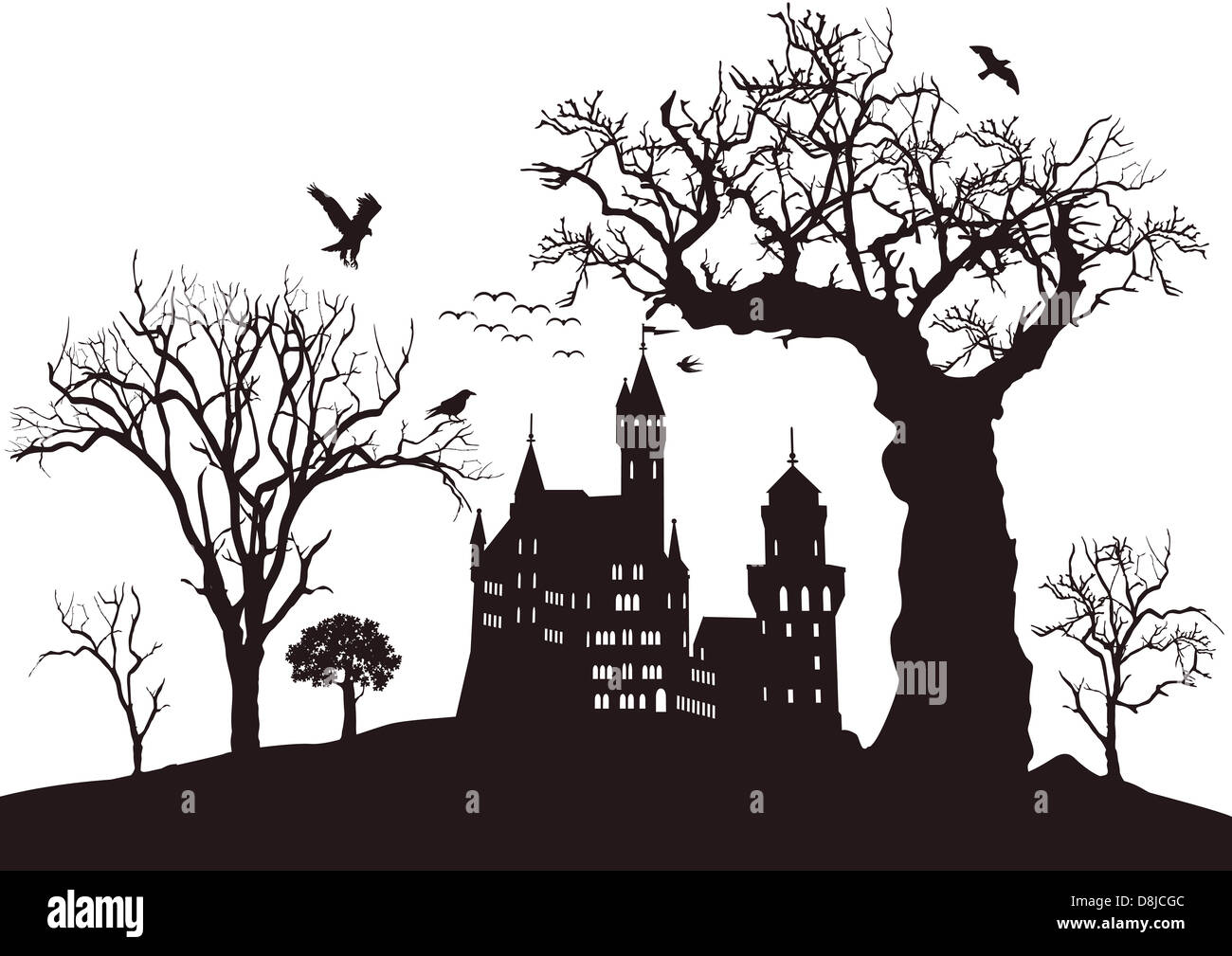 black castle - Stock Image