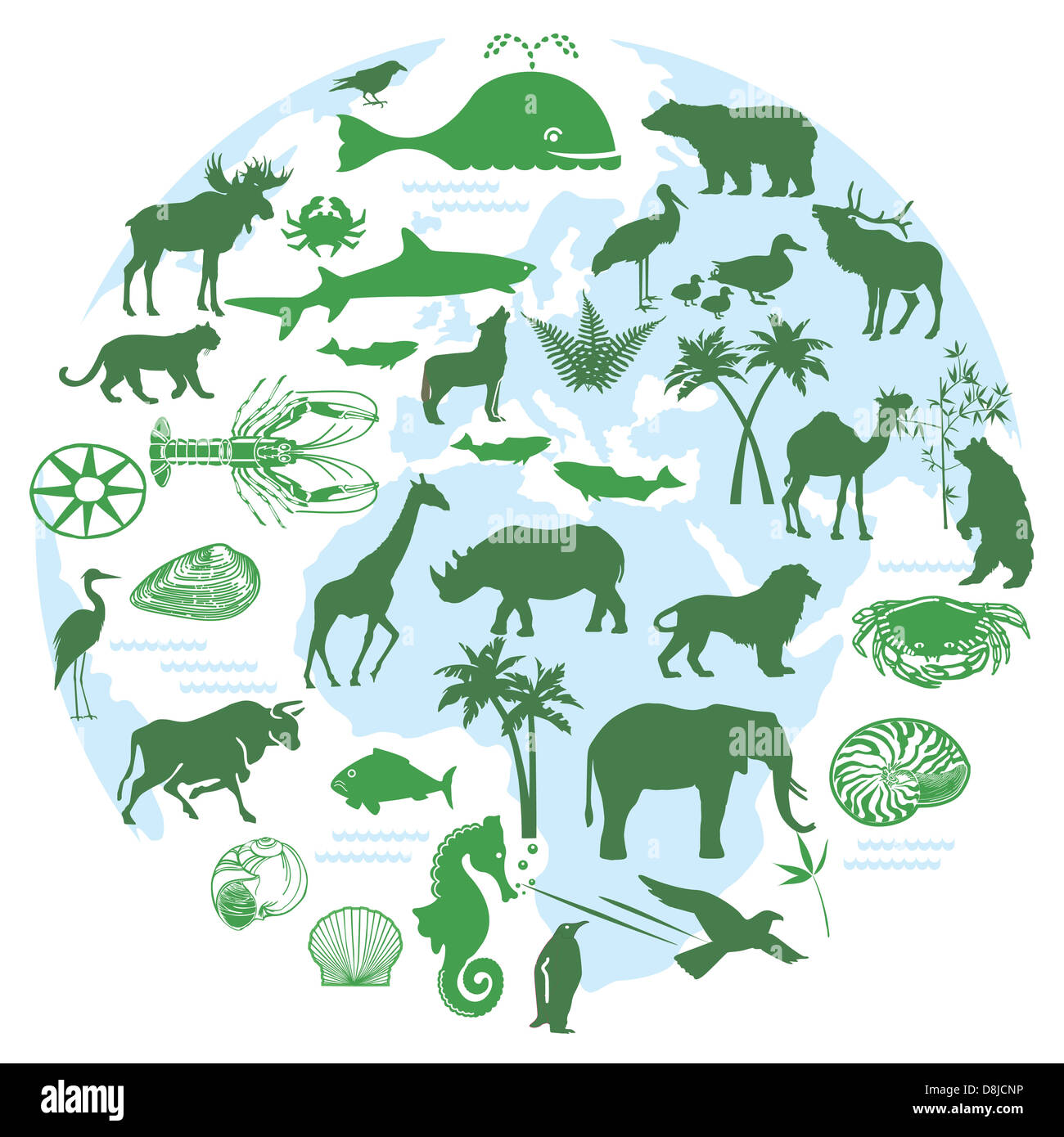 animal symbols - Stock Image