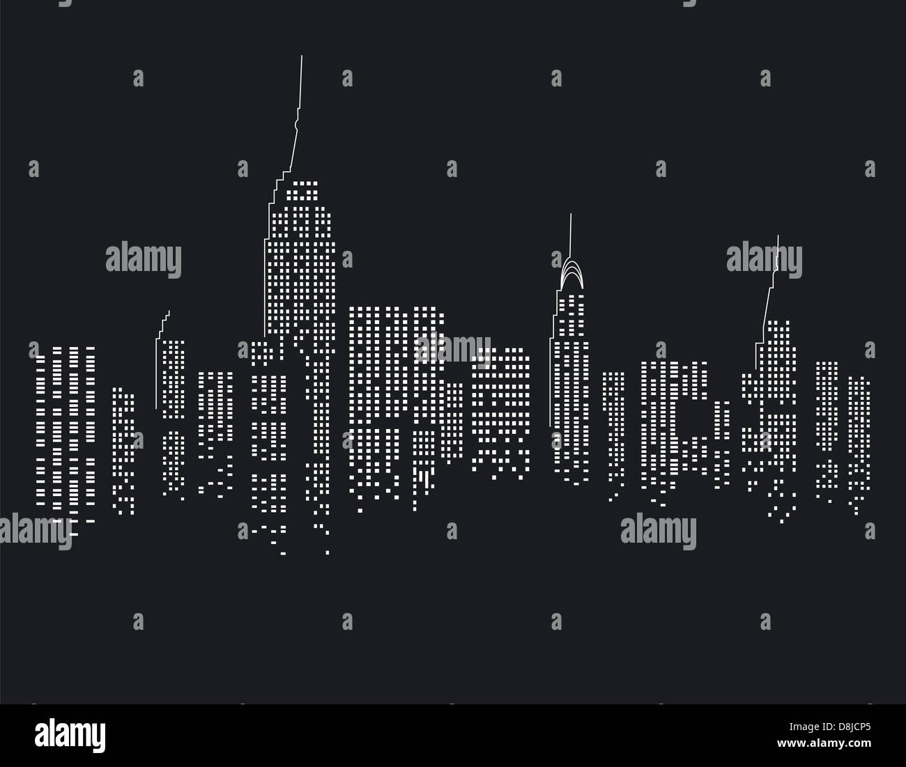 New York at Night - Stock Image