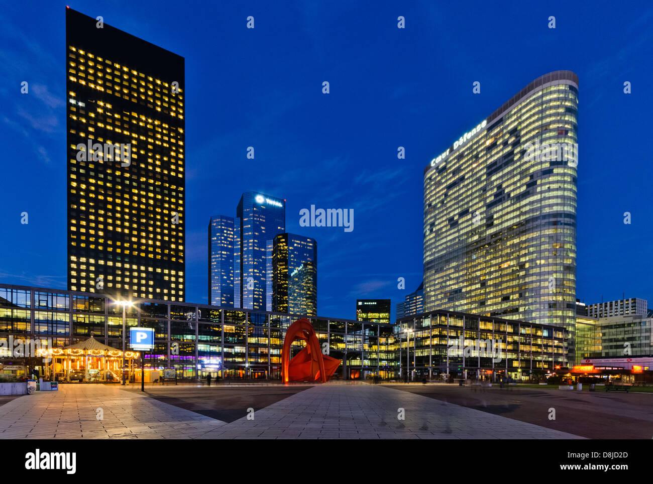 Financial district of La Defense, Puteaux, Paris, France - Stock Image