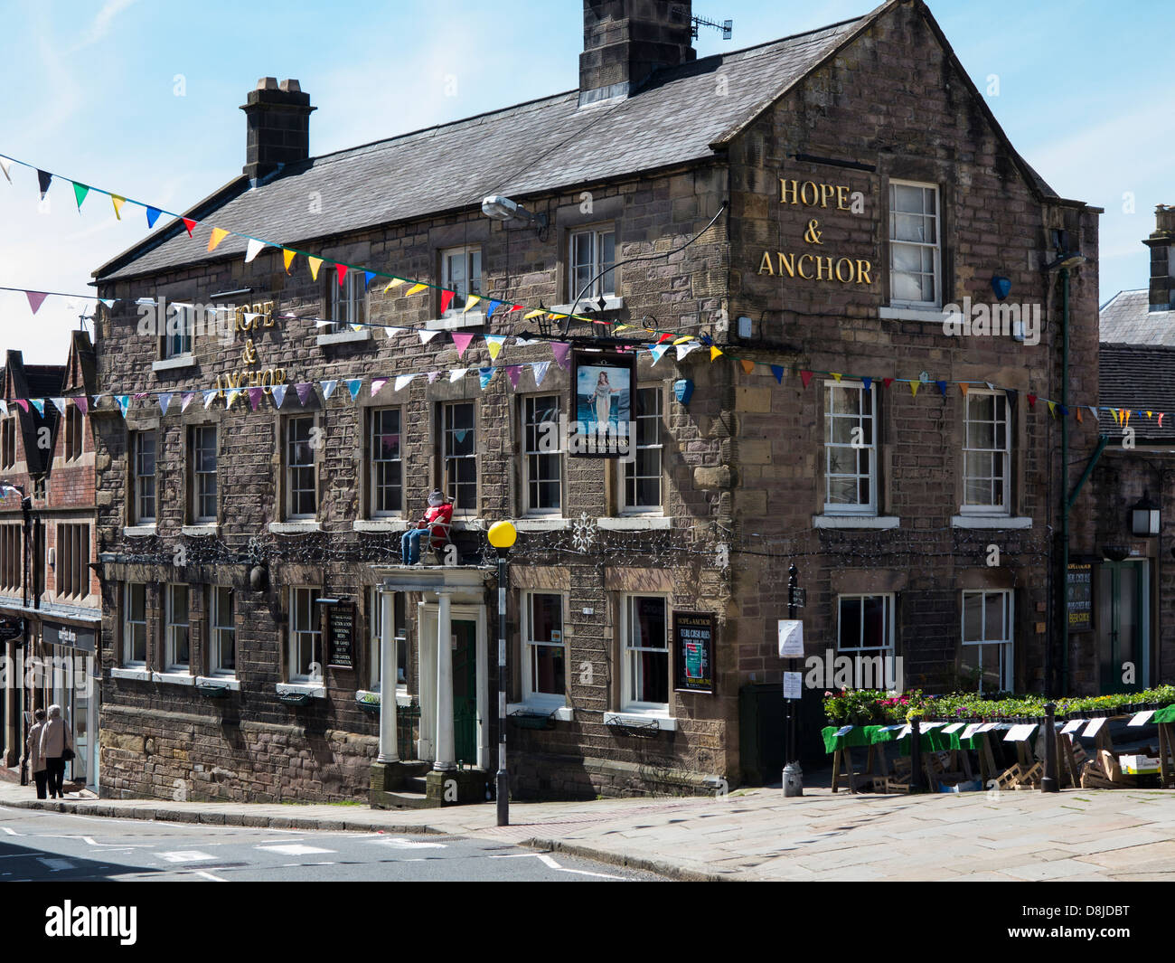 Hope and Anchor pub in Wirksworth, Derbyshire, England. - Stock Image